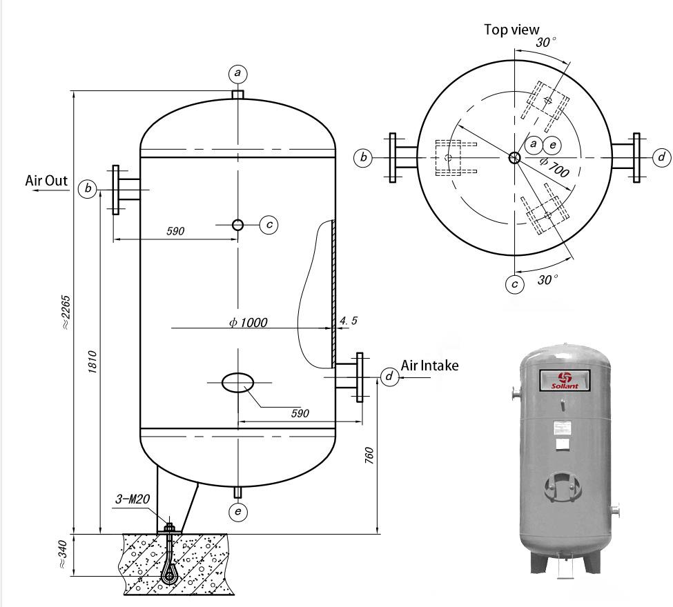 rotary compressor diagram