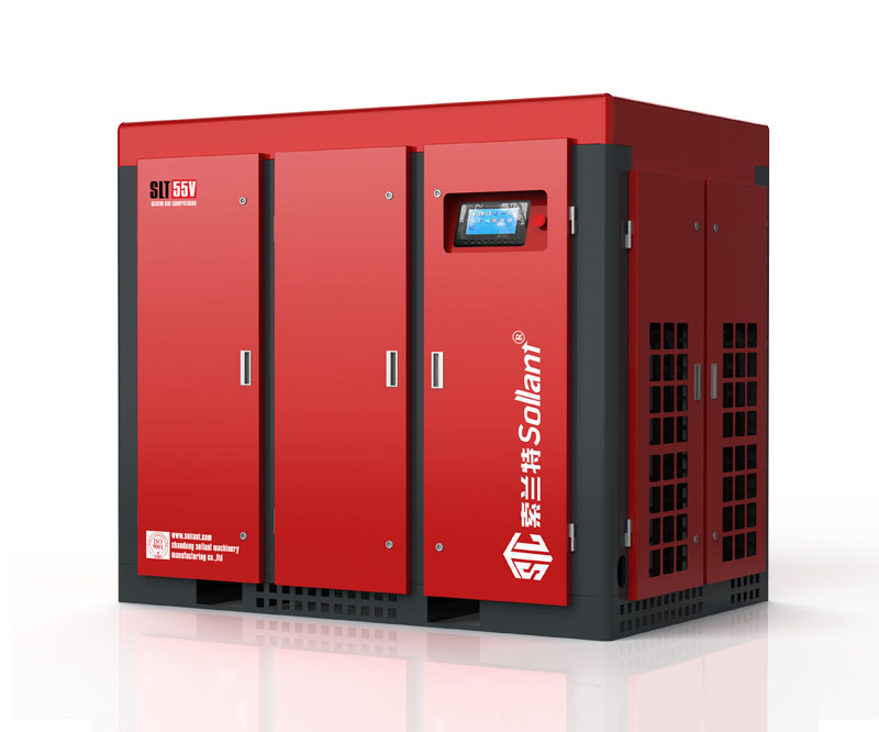 55 kw oil flooded rotary screw compressor